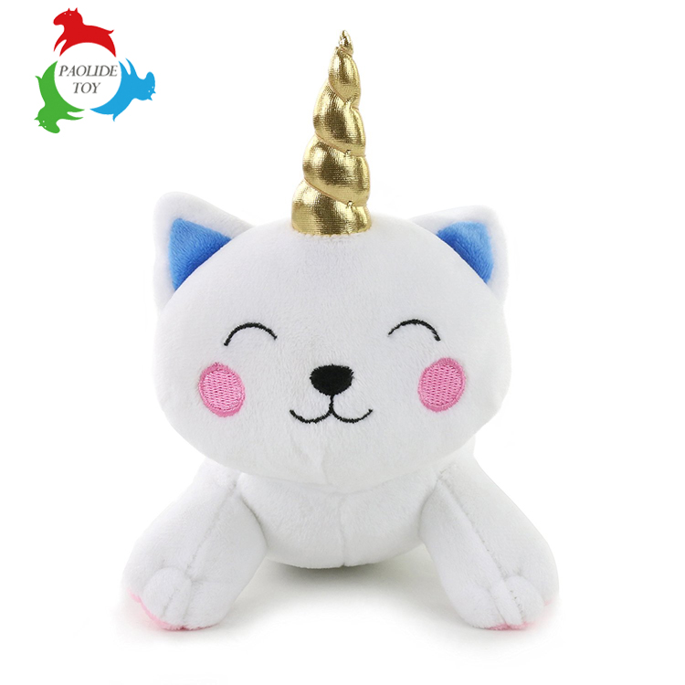 Unicorn white stuffed animal custom plush toy