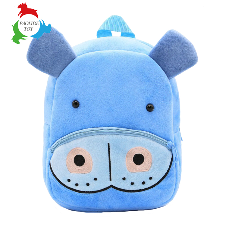 Paolide animal sharp plush double shoulder children's schoolbag kindergarten bag