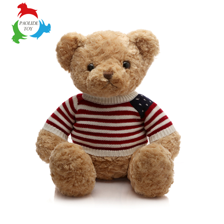 Custom plush toys teddy bear with clothes