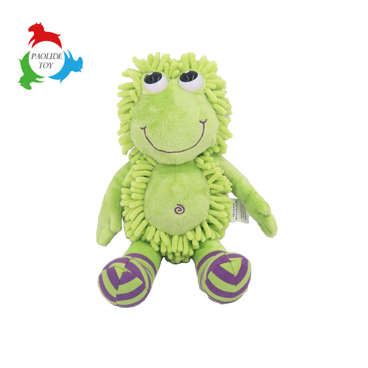 Car decorations gift chenille material creative cartoon frog cleaning duster